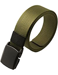 SODIAL(R) Men's Fashion Outdoor Sports Nylon Waistband Canvas Web Belt Khaki