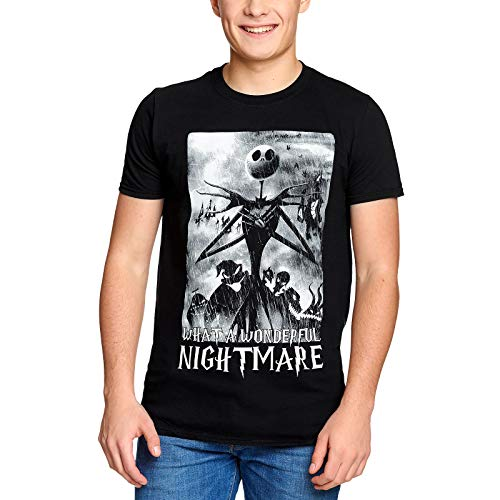 Nightmare before Christmas Herren T-Shirt Jack Wonderful Nightmare Baumwolle schwarz - M