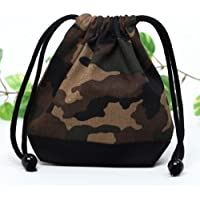Preisvergleich für Drawstring Gokigen lunch (small size) cup gusset bag camouflage moss green made in Japan N3512400 (japan import)