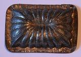 Antiquitäten - antike Backform, Bärentatzenform, Kleingebäck, Verzierung - Rechteck (150)