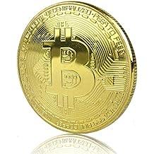 LZWIN Rexul – 1 Moneda Bitcoin, chapada en Oro, Coleccionable, Moneda Física de