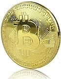 LZWIN Rexul – 1Moneda Bitcoin, chapada en Oro, Coleccionable, Moneda Física de Regalo de Colección de Arte