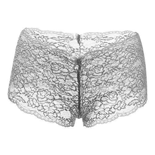 Sexy Frauen-Spitze-WäSche ÜBergröße Unterwäsche Öffnen Schritt Bowknot UnterwäSche Reine Erotische Spaßunterwäsche Yebutt