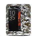 Sony Xperia XZ boîtier en métal, Bpowe Heavy Duty Armour Antichoc Dust/Dirt/Neige Preuve en Aluminium métal Verre Gorilla de Protection Coque pour Sony Xperia XZ Camo Desert
