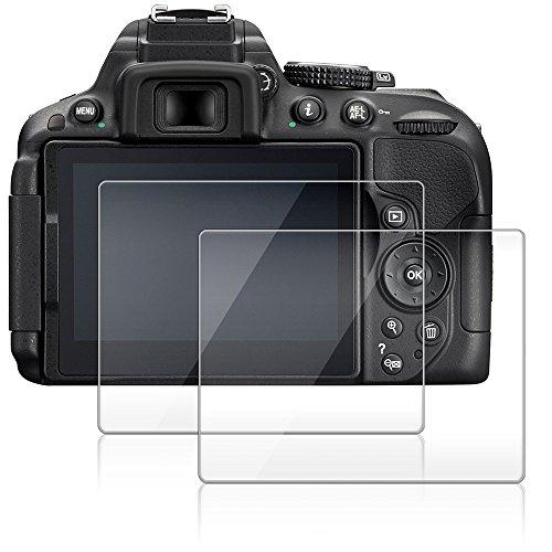 Protector de Pantalla para Nikon D5300 D5500 D5600, AFUNTA 2 Paquete la Cámara del Protector de Vidrio Templado Óptica