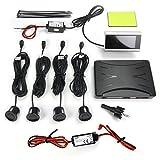 JOM 7118 Rückfahrwarner, Pdc, Parkhilfe, Einparkhilfe mit 4 Sensoren und Flachem LCD Monitor, mit Abschaltbarer Akustischer Warnung, Funkübertragung, Wireless, Set of 5
