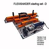 FLEXISANDER Starting Set D - Werkzeug für Schleifen, Füllung und Kontrolle für gebogene Oberflächen