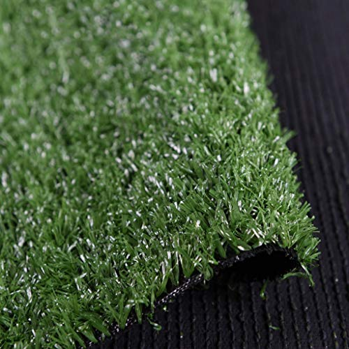 Jinxiaobei Gräser Outdoor Kunstrasen Realistic Fake Grass Deluxe Kunstrasenmatte Pet Turf Kunstrasen for Hunde Realistic Kunstrasenmatte for Patio Fake Turf for Indoor- und Outdoor-Deko Militärgrün -