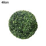 cheerfulus 2PCS artificiale topiaria palline plastica piante erba palla decorazione di nozze e decorazioni per la casa 40cm