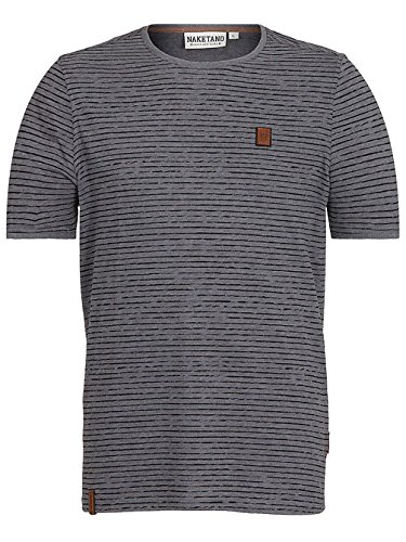 Naketano Herren T-Shirt Dark Grey Melange