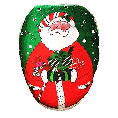 LUFA Decorazione natalizia Decorazione di copertura per WC per il modello del Babbo Natale