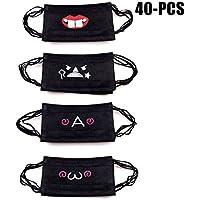 Preisvergleich für Unisex Mund Maske, Fascigirl 40 StüCk Gesicht Mund Maske Niedliches Cartoon Muster Anti Staub Einweg Maske