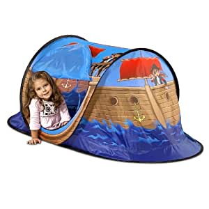 Tente de jeux Tente de jouer pour enfant bateau pirate Tente pop up 170 x 85 x 70 cm