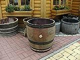 JUNIT 200L-Weinfass Regentonne aus gebr. Eichenfass schwarzen Ringen