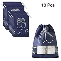 Esoes Travel Shoe Bags Waterproof,Shoe Storage Organizer Bags Set,Organizer Bags with Clear Transparent Window for Men and Women