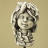 Blumenkind Kalanchoe, Figur aus Steinguss, Gartendekoration, zum Aufstecken auf eine Stange
