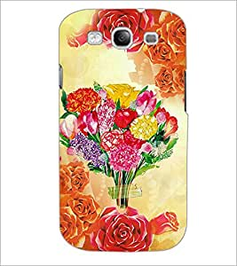 PrintDhaba Bouquet D-2897 Back Case Cover for SAMSUNG GALAXY S3 (Multi-Coloured)