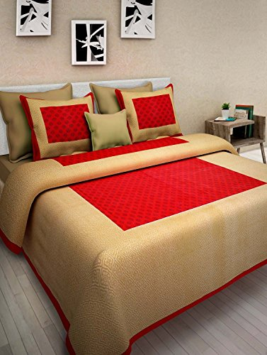 Jaipur Prints Double Bedsheet with 2 Pillow Cover- Offer 2 Days Only