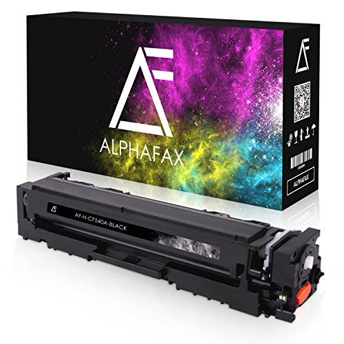 Alphafax Toner kompatibel zu HP CF-540A für Color Laserjet Pro M-280nw M-281fdn M-281fdw M-254nw M-254dw - 203A Schwarz 1.400 Seiten