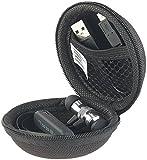 auvisio Kopfhörer Taschen: Hardcase-Schutztasche für in-Ear-Ohrhörer, 70 x 70 x 48 mm (Innen) (Kopfhörer-Case)