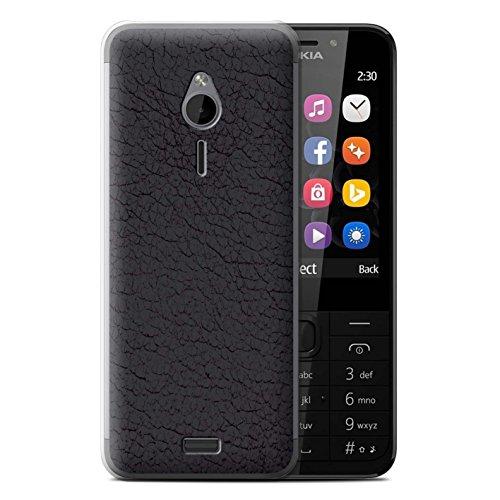 Stuff4® Hülle/Case für Nokia 230 / Oliv Schwarz Muster/Leder Patch Effekt Kollektion