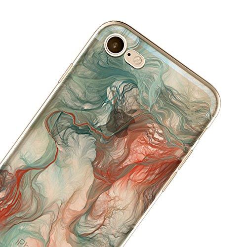 """Anti-scratch Case TPU Silikon Schutzhülle Sunroyal Handyhülle durchsichtig für iPhone 6 Plus /6S Plus 5.5"""" Ultra Dünn Flex Hülle stoßdämpfende kristallklar Leichte Weichem Aquarell Tasche Schutz Etui  C06"""
