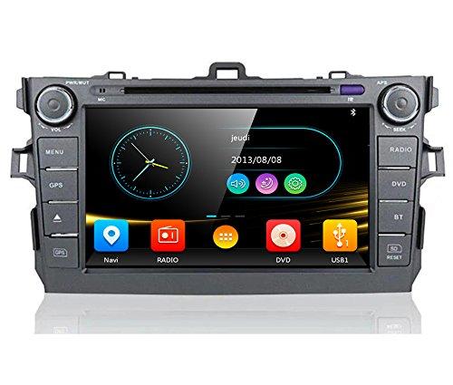 20,3cm-INDASH Auto-DVD-Player mit GPS BT/TV, Unterstützung Kamera, Lenkradfernbedienung, USB/SD AUX, Audio Radio Stereo, Car Multimedia Haupteinheit für Toyota Corolla 200620072008200920102011