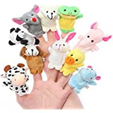 TANZAIB Cute Animal Finger Puppets ( Pack Of 10)