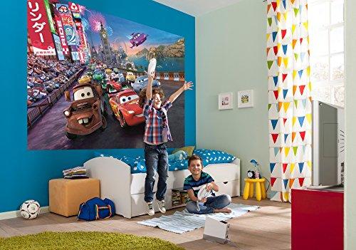 komar-disney-pixar-cars-race-papier-peint-en-vinyle-multicolore-set-de-4-pieces