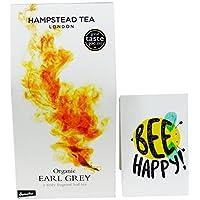 Hampstead Tea - Thè Nero Earl Grey- in Foglia da Agricoltura Biodinamica Certificato Demeter- 100 gr - - Biodinamica Tè Verde