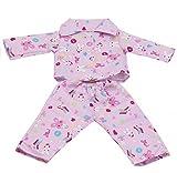 FLAMEER Zweiteilige Pyjamas Schlafanzug Puppe Bekleidung für 18' Mädchenpuppe