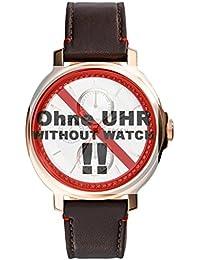 Fossil Uhrband Wechselarmband LB-ES3594 Original Ersatzband ES 3594 Uhrenarmband Leder 18 mm Braun