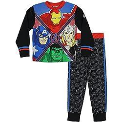 Marvel Avengers - Pijama para Niños - Hulk, Thor, Iron Man y Capitán América - 6 a 7 Años