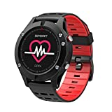KOBWA GPS-intelligente Uhr, bunter Touch Screen IP67 imprägniern Sport-Uhr mit Pulsmesser Höhenmesser-Temperatur-Maß-mehrfache Sport-Modi notieren für Android- u. IOS-intelligente Telefone