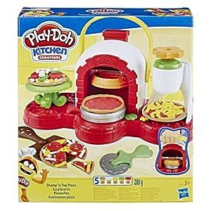 Hasbro Play-Doh Play-Doh-La Pizzeria (playset con 5 vasetti di pasta da modellare), Multicolore, E4576EU4 10 spesavip