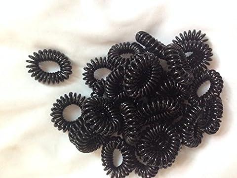 cuhair (TM) 100% véritable photo 2015bébé fille femmes cheveux attaches élastiques en plastique Cheveux Corde Fashion Mix de 100couleurs assorties Fil Téléphone cheveux Bandeau Cravate queue de cheval de cheveux accessoires cheveux