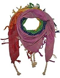 Superfreak® Palituch multicolor bunt°PLO Schal°100x100 cm°Pali Palästinenser Arafat Tuch°100% Baumwolle° alle Farben und Batik