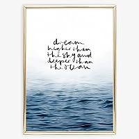Kunstdruck, Illustration: Dream higher than the sky and deeper than the ocean | Hochwertiges und festes Premiumpapier | Ohne Rahmen
