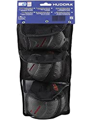 HUDORA Protektoren-Set Kinder, Gr. S (ca. 3 - 7 Jahre) - Schutzausrüstung Inliner Skater, Rollschuhe - 83161/AM