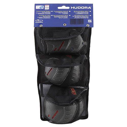 Preisvergleich Produktbild HUDORA Biomechanisches Protektorenset grau/schwarz, S, joey für Kinder 83161-62