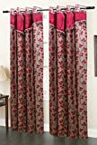 Homefab India Designer Maroon Window Cur...