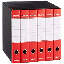Esselte Group 6 Oxford with Lever Mechanism and Binders with Cover Gruppo da 6 red