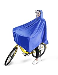Boonor Regenponcho Fahrrad Radponcho Regenjacken Wasserdichter Regencape Atmungsaktiv mit Kapuze, Regenmantel Wasserdicht mit Reflektierendes Band, Regenbekleidung für Fahrrad Regenschutz, Regenjacke Leicht für Fahrradfahrer