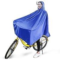 boonor pioggia Poncho Bicicletta Ruota Poncho pioggia antipioggia giacca impermeabile traspirante con cappuccio, Cappotto di pioggia impermeabile con Nastro riflettente, Pioggia Abbigliamento per bicicletta parapioggia, Giacca a vento leggero per Ciclista, Blau