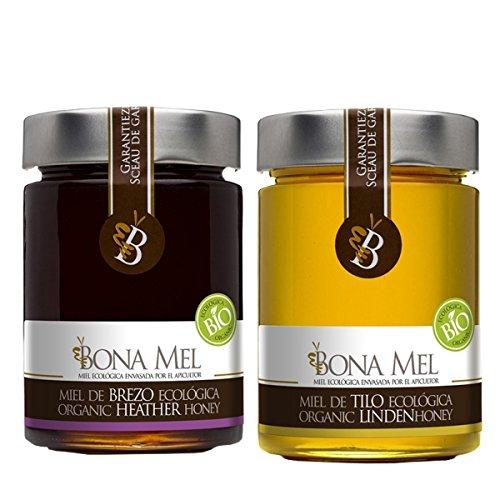 100% roher Bio Linden Honig + Bio Heidekraut Honig, reiner Imkerabfüllung aus Spanien, nur eigene Bienen, Lindenhonig, Heidekrauthonig -