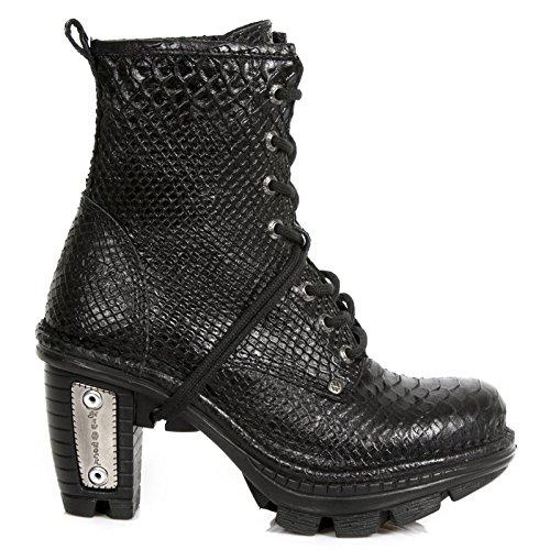 New Rock M Neotr008 S35, Boots femme Noir (Piton Raw Negro/Piton Raw Negro)