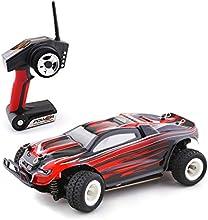 Metakoo RC Coche de Radiocontrol de Velocidad de 30km/h Escala 1:28 Juguete 100 Metros de Control Remoto Coche Infantil Electrico - Rojo