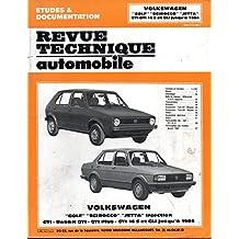 REVUE TECHNIQUE AUTOMOBILE N° 408.3 VOLKSWAGEN GOLF / SCIROCCO / JETTA GTI / RABBIT GTI / GTI PLUS / GTI 16 S / GLI JUSQU'A 1984