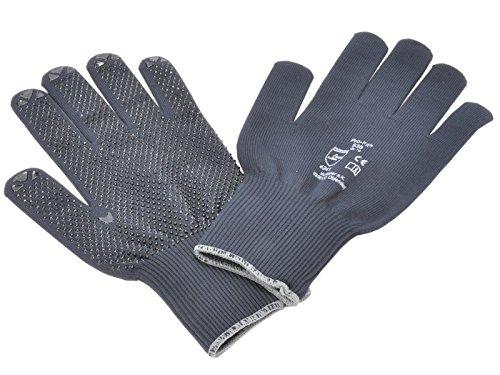 Tricot gants de travail avec picots (bleu)