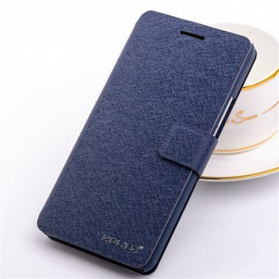 Eleoption® - Custodia in pelle per smartphone, con funzione di supporto e porta tessere, Champagner-Rosa, iPhone 6/6S blu scuro